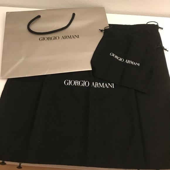 91f8351c7e55 Giorgio Armani Other - Giorgio Armani Black Dust Bags w  a shopping Bag
