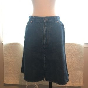 LEVI'S high wasted denim jean skirt