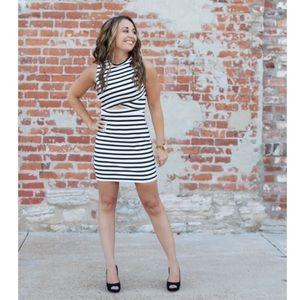 NWT EXPRESS Stripe Cut-Out Dress Size 0