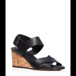 Vince Gwyn Mid Heel Wedge Sandals