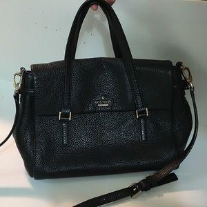 KATE SPADE Black Holden Street Leslie Satchel Bag