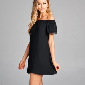 Off shoulder dress ready for vacation!