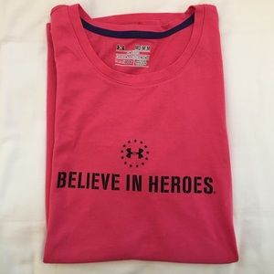 UA Pink Cotton Wounded Warrior Project Tee