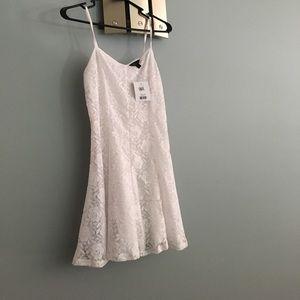 Top shop white lace dress