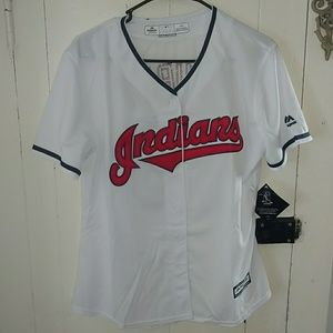 Tops - Womens Large Cleveland Indians Kluber #28