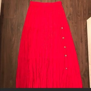 Red Broom Skirt