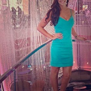 Fun, turquoise dress