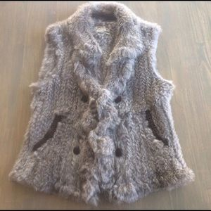 June Grey Rabbit Fur Vest