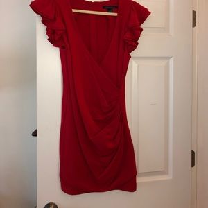 Red French connection dress