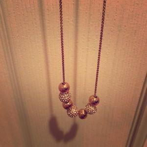 MK Rose Gold Adjustable Necklace