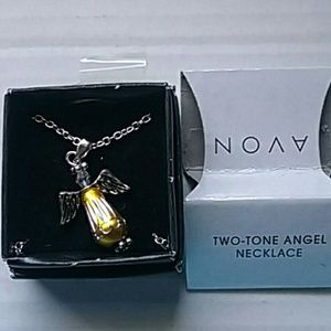 Avon Two-Tone Angel Necklace' New