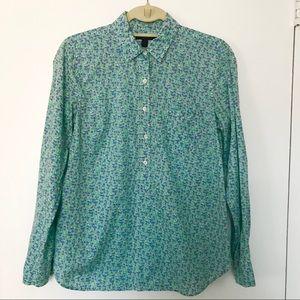 J. Crew Floral Popover Shirt