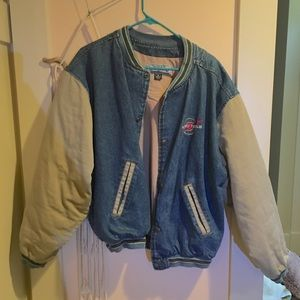 90s puffy sleeve jean jacket