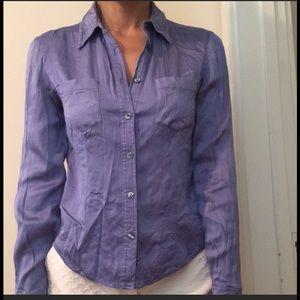Anne Klein II silk lavender blouse