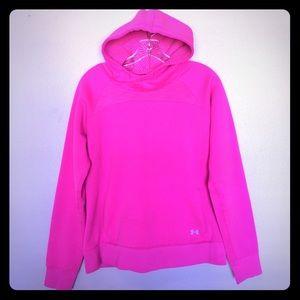 Medium Under Armour Neon Pink Hoodie
