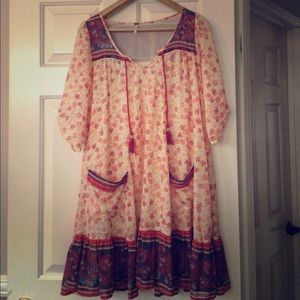 Free People Floral Babydoll Dress Size Small