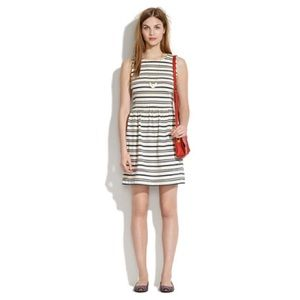 Madewell•Striped Afternoon Dress