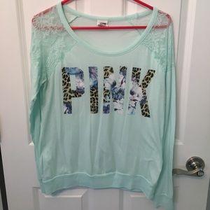 PINK shirt, lace shoulder design