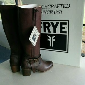 Frye Malorie Knotted Tail Leather Riding Boots