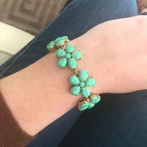 Kate Spade New York teal flower bracelet