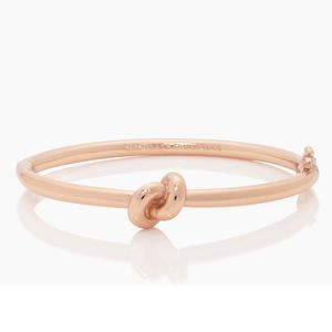 KATE SPADE sailor's knot rose gold hinge bangle