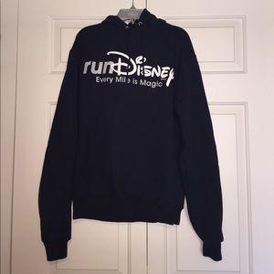 runDisney navy blue hoodie
