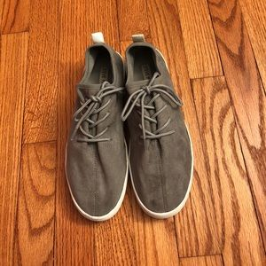Gray suede Steve Madden sneakers