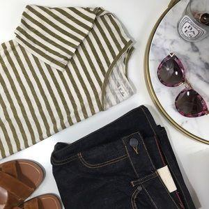 Hi-Line•Striped Short Sleeve Tee