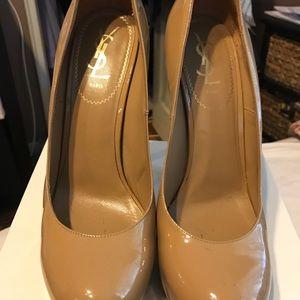 YSL Tribtoo pumps in nude size 39.5