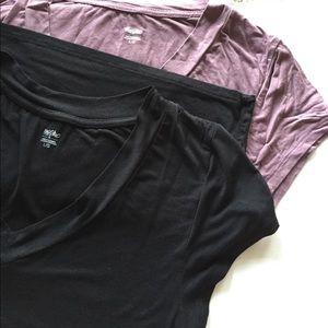 Bundle: 2 V Neck Merona T shirts