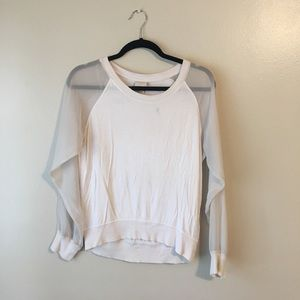 H&M SHEER SLEEVE TOP