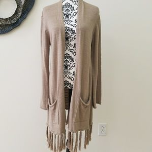Lucky Brand open front cotton and wool cardigan