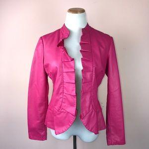 INC Jacket Size Medium Pink Faux Leather