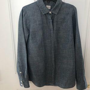 J.Crew cotton polka dot shirt