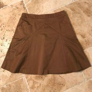 Express Brown Skirt Size 6