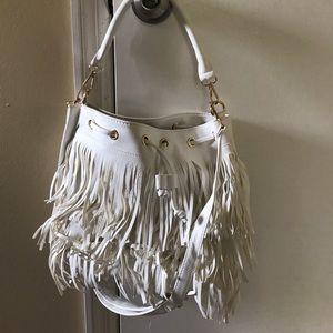 Handbags - White fringe bag