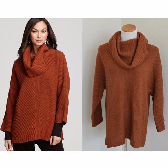 fd176cf4314738 Eileen Fisher Sweaters - Eileen Fisher Deep Cowl Neck Yak Wool Sweater