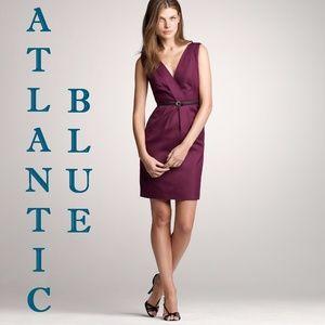 J.CREW Atlantic Blue Cotton Caty AVELINE Dress 6P