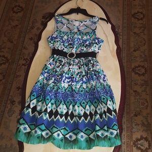 Green/Blue ombre girls dress.