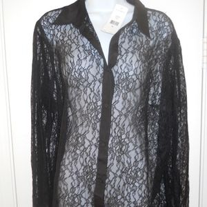 LAUREN RALPH LAUREN Lace Shirt Blouse Top