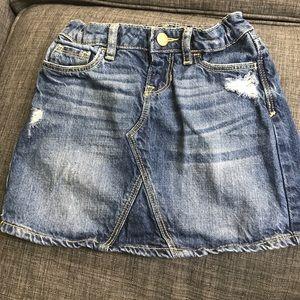 Gap girls' denim skirt