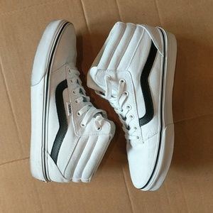 Vans Hightop White Canvas Boys Size 7