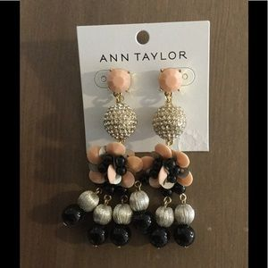 Ann Taylor Floral Modern Drop Earrings