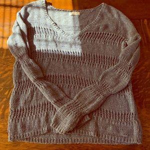 Blue/Gray Knit Sweater