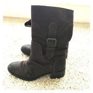 Vera Wang Lavender Brown Moto Boot
