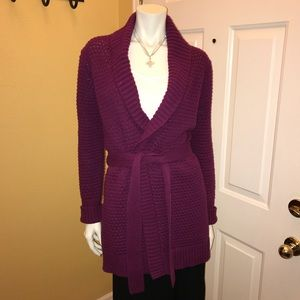 Old Navy Raspberry Colored Long Cardigan Sz Small