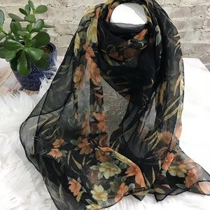 Accessories - Rectangular long square sheer scarf