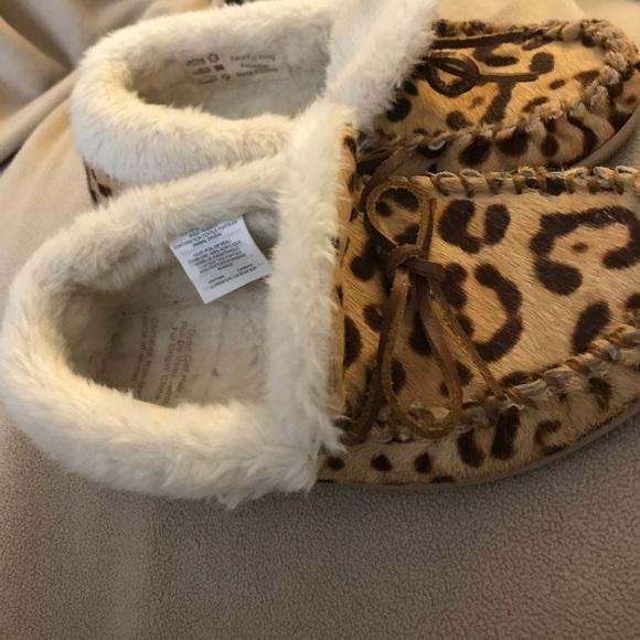 c4870ffaa2d J.Crew Leopard Calf Hair Lodge Moccasins