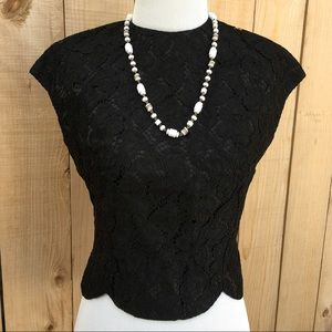 🆕 Vintage Black Lace Sleeveless Top
