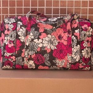 Vera Bradley Large Duffle Bag in Mocha Rouge